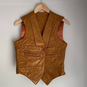 North Beach Leather | Vintage Embroidered Vest